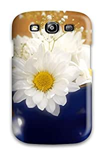 2096256K30557935 Case Cover White Glowing Flowers/ Fashionable Case For Galaxy S3