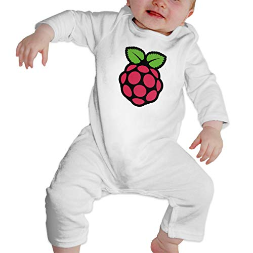 ZP-CCYF Raspberry Newborn Baby Clothes Cute Romper Long Sleeve Cartoon Jumpsuit Cotton - Infant Romper Dresses Raspberry