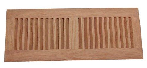 Red Oak Hardwood Floor Vent 4 X 12 Drop-in Insert Unfinished (Register Wood Floor Insert)