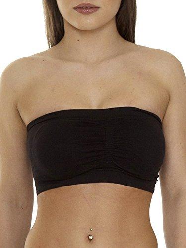 8e3d3e17012f5 Love My Fashions® Womens Bra Ladies Yoga Plain Boob Tube Bandeau Crop Vest  Top Causal Outwear Summer Mini Shirt Size S M L XL