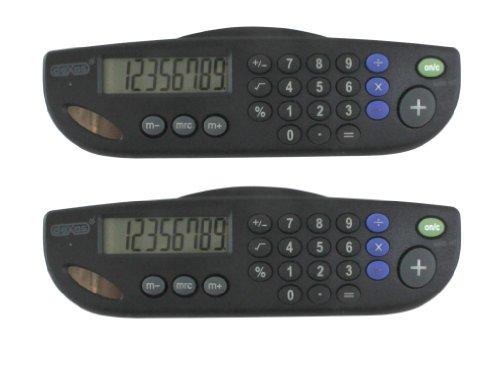 DEXAS Clipboard Solar Calculator 2-Pack (Clipboards Dexas)