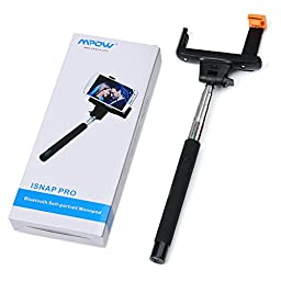 Mpow Selfie Stick, Extendable Monopod with built-in Bluetooth Remote Shutter for Smartphones