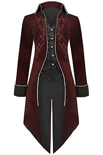 Pirate Costumes Frock Coat - Medieval Steampunk Tailcoat Halloween Costumes for