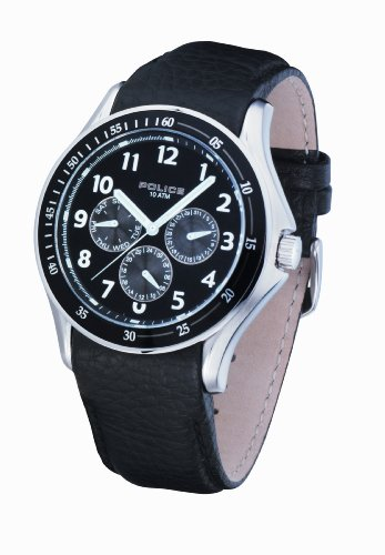 Police Men's PL-11596JS/02 Rush Black Dial Watch