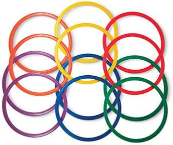 Set of 12-14 20 or 24 Rings Palos Sports Speed and Agility Flat Hoops