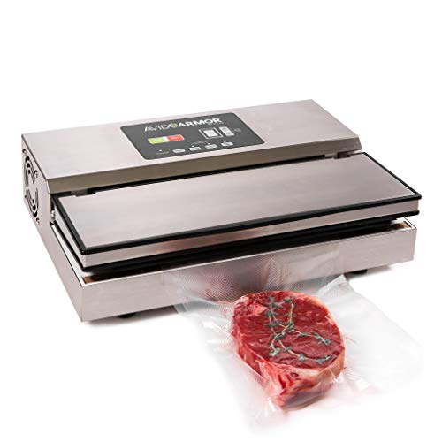 Avid Armor Vacuum Sealer Model AV3100 Pro Grade Stainless Construction Auto Control Panel Double Piston Pump 12