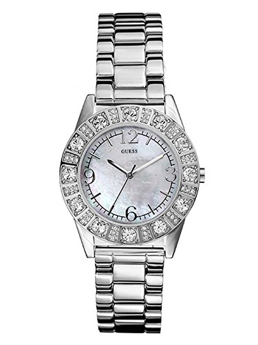 GUESS 86060L Silver Tone Crystal Accented