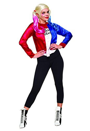 Harley Quinn Costume Shoes (Rubie's Costume Co. Women's Suicide Squad Harley Quinn Costume Kit, As Shown, TEEN)