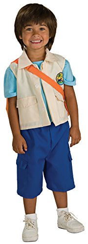 Dora The Explorer Costume Rental (Rubies Go Diego Go! Deluxe Child Costume, Medium)