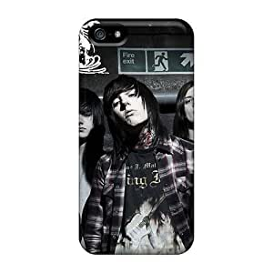 Shock Absorption Hard Cell-phone Cases For Iphone 5/5s With Custom HD Bring Me The Horizon Band Bmth Skin KevinCormack