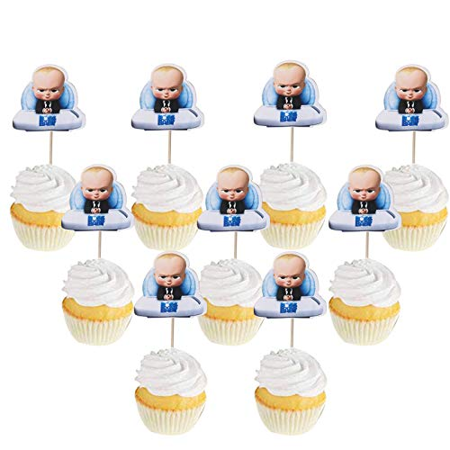 Set of 24 Boss Baby Cupcake Toppers Boss Baby Cake Toppers