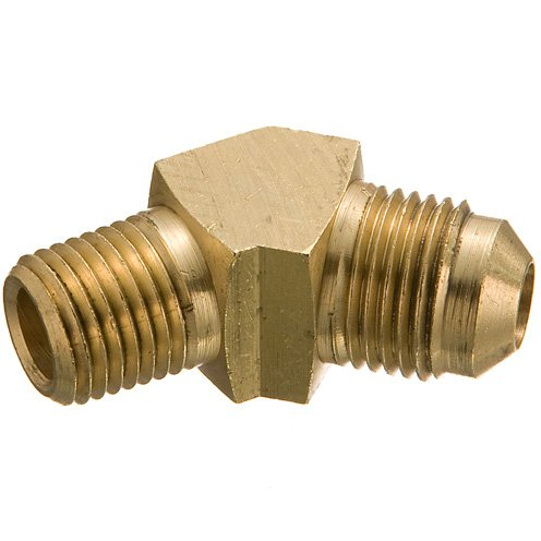 Weatherhead (Eaton) 54X4-45° Elbow - 1/4 in Male SAE 45° Flare x 1/4 in Male SAE 45° Flare, Brass, Pack of 15