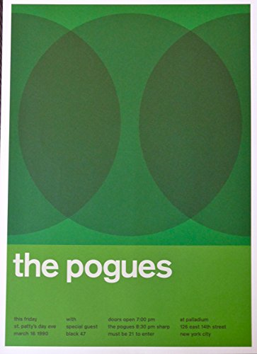 The Pogues - Live at Palladium - Concert Advertising Poster - NYC 1990