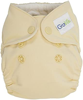 Newborn Vanilla GroVia All In One Cloth Diaper Snap