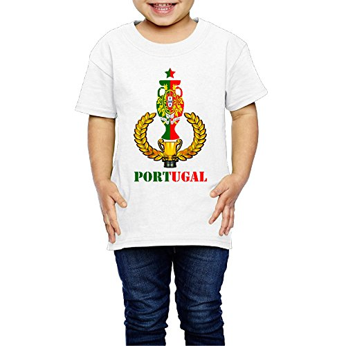 Price comparison product image Kim Lennon Portugal Football Winner Cup Short Sleeve Boys T Shirt Summer Size 3 Toddler White