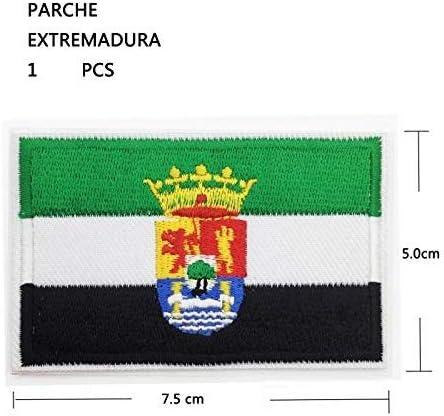 BANDERA DEL PARCHE BORDADO PARA PLANCHAR O COSER (EXTREMADURA ...