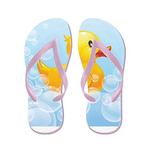 Cafepress Duck In Bubbels - Flip Flops, Grappige String Sandalen, Strand Sandalen Roze