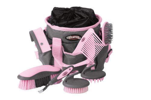 - Weaver Leather Grooming Kit, Gray/Pink