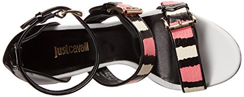 Hot Just Buckled Womens Pink Size Cavalli Buckled Strappy Strappy Pink WwSSIgx8rq