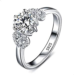 Women's silver ring encrusted with crysta 8