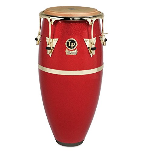 LP Galaxy Fiberglass Fausto Cuevas III Signature Conga, Arena Red with Gold Hardware 11 in.