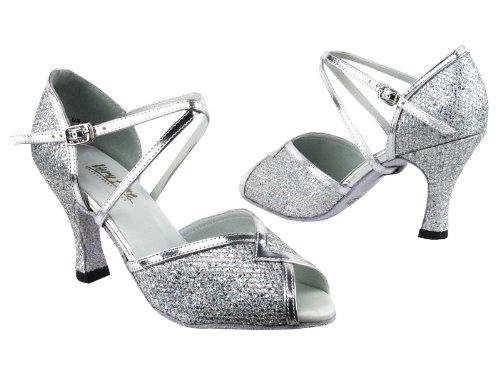 Scarpe Da Ballo Da Donna Da Donna Molto Raffinate Per Salsa Latino Tango Classico Sparkleet Argento 2721 & St 2,5 Heel