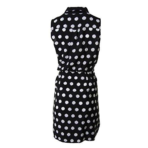 MICHAEL Michael Kors Womens Sleeveless Button Down Casual Dress Navy 14