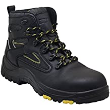 EVER BOOTS Protector Men's Steel Toe Industrial Work Boots Safety Shoes Electrical Hazard Protection