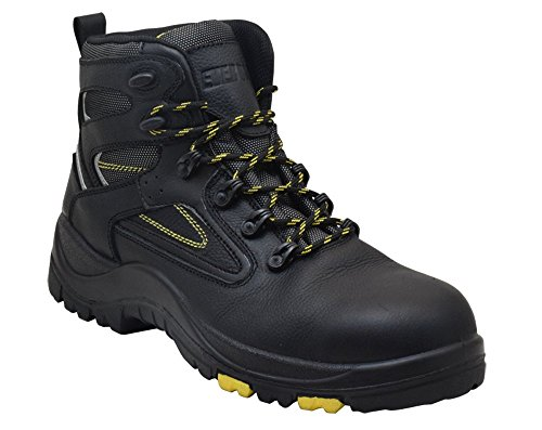 Electrical Hazard Safety Shoes (EVER BOOTS Protector Men's Steel Toe Industrial Work Boots Safety Shoes Electrical Hazard Protection (12 D(M), 6