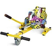 ECOXTREM Hoverkart, Asiento Kart, Multicolor Amarillo diseño Hip