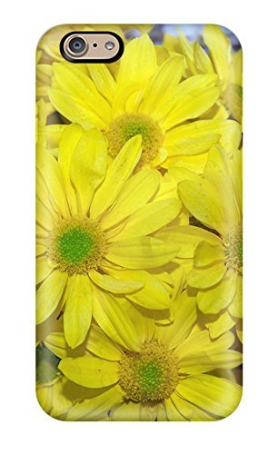 Iphone Case - Tpu Case Protective For Iphone 6- Yellow Flowers (3D PC Soft Case)