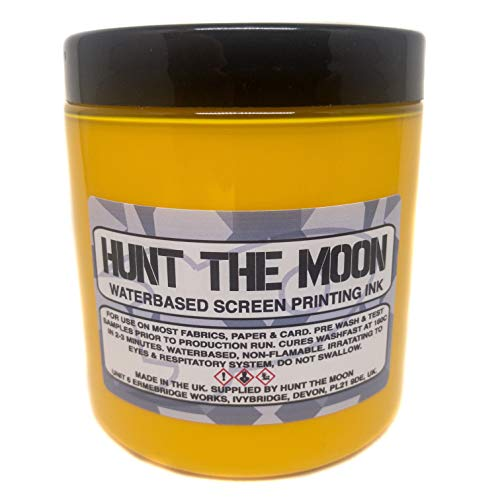 Hunt The Moon Water Based Screen Printing Ink, Golden Yellow, 240ml