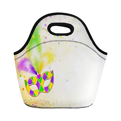 Semtomn Lunch Bags Mardigras Colorful Carnivale Bright Mardi