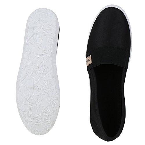 napoli-fashion - Mocasines Mujer Schwarz Black