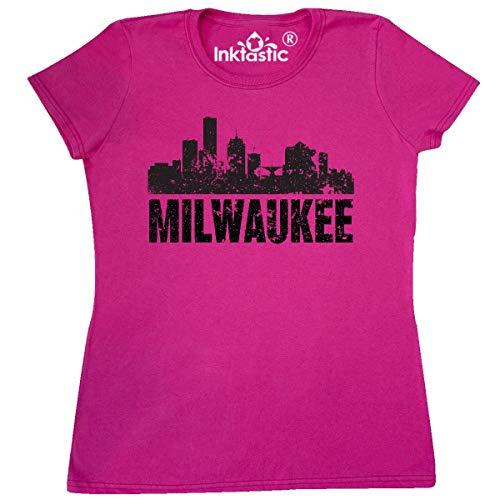 inktastic - Milwaukee Skyline Grunge Women's T-Shirt Medium