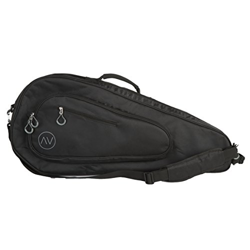 Premium Tennis Bag, 3 Racquet Holder (Black/Gray)