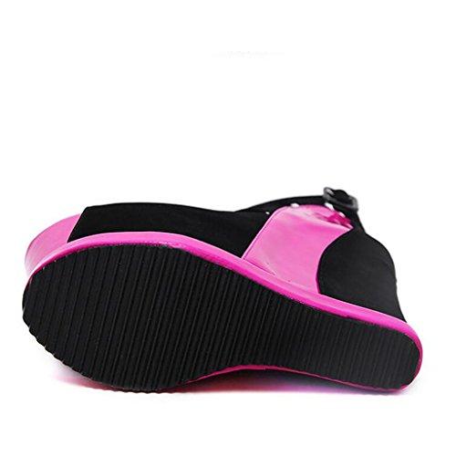 Llp À Femmes Red Bouche Fond Pour Chaussures Hauts Femme Épais Sandales Talons De Poisson rCqYpUr