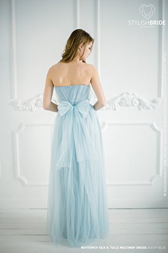 BF3 Butterfly Convertible Dusty Blue Bridesmaid Dress with bows on ...