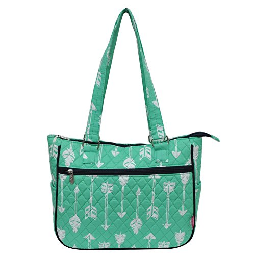 Ngil Cotton Shoulder Quilted Bag Mint Arrow Green 00Pgra