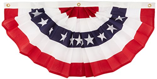 Annin Flagmakers 18 by 36-Inch pleated Fan Bunting Decoration Flag, - Pleated Fan Bunting