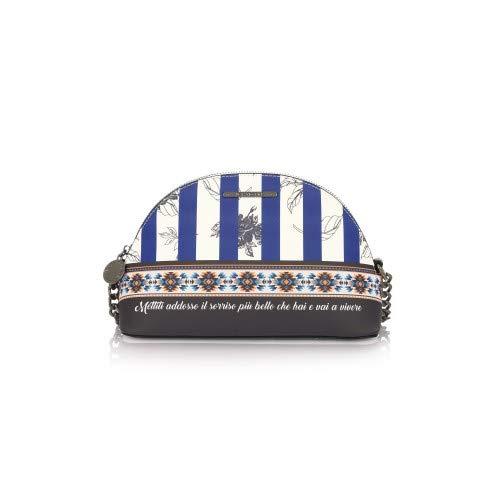Market Dark Le Pandorine Sorriso Blue Mini Borsa PXExwq