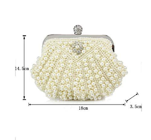 Diagonale Sposa Da Banchetto Borsa Cheongsam centimetro Mini bianca Nero Tracolla Festa Wjp Bag Donna Pochette SqxFHFp