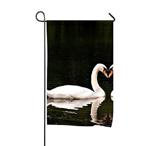 yyoungsell Beautiful Swans Garden Flag Double-Sided Yard Flag to Brighten Up Your Home (Flag Banner Yards)