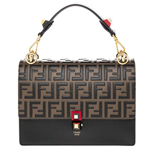 Fendi Bag Red (Fendi Women's Kan I FF Embossed Shoulder Bag Brown)