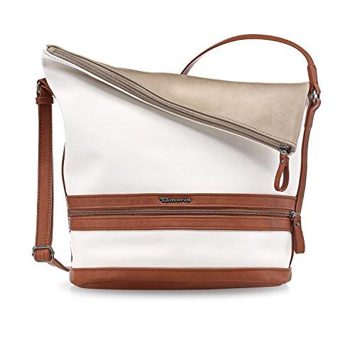 Tamaris Smirne Hobo Bag Sand Comb. (Weiß / Braun / Beige)