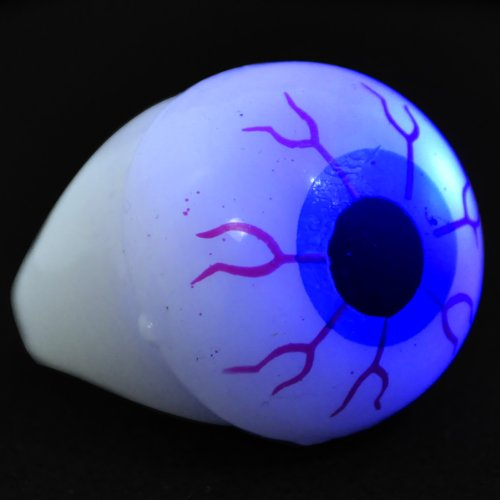 Scary Eyes Light Up Flashing Soft Rings  Set Of 24