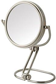 Jerdon Espelho dobrável para viagem MC315N de 7,6 cm com ampliação de 15x, acabamento em níquel