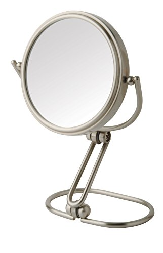 Elk Mirrors - Jerdon MC315N 3-Inch Folding Travel Mirror with 15x Magnification, Nickel Finish