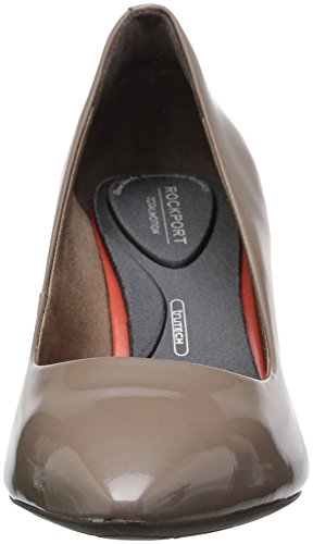 Rockport Women's Total Motion 75mm Pointy Pump Taupe Grey Patent outlet popular tqIdnK24wM