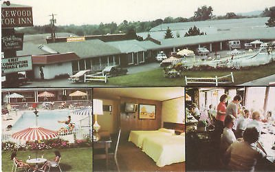 F5453 NY, Lakewood Motor Inn Postcard